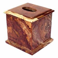 Multi Brown Onyx Tissue Box Cover | Atlantic Collection