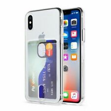 Cell Phone Case Transparent Card Pocket Cover Soft Flexible Mobile Accessories