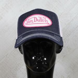 Mens Von Dutch Trucker Cap Denim/Pink 114821 (G1) RRP £29.99