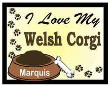 Welsh Corgi Personalized I Love My Welch Corgi Magnet