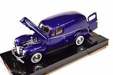 FORD SEDAN DELIVERY VAN 1940 '40 MOTORMAX 73250 1:24 NEW DIECAST BLUE
