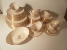 62  Pc Lenox Wheat R-442 China Set Ivory/Gold Service for 12 plus extras
