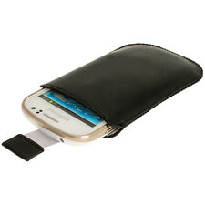 Black Leather Pouch for Samsung Galaxy Fame S6810 Android Case Cover Holder