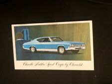 CHEVELLE MALIBU SPORT COUPE BY CHEVROLET POSTCARD