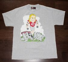A.J. HAWK Ohio State Buckeyes Football T-Shirt Men's Medium M Gray 2005 Cartoon