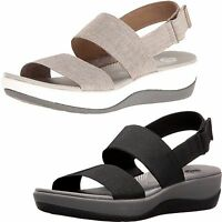 WOMEN'S CLARKS ARLA JACORY CLOUDSTEPPERS WEDGE SANDALS