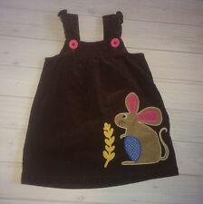 Mini Boden Baby Girls Brown Mouse Jumper Dress 18 24 Months