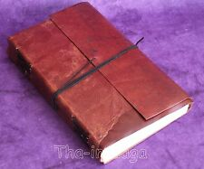 Carnet Notebook Cuir 240 pages 23x15x3cm 500g Tha-in-daga Inde MarronAmbos