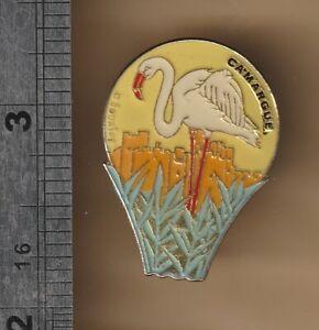 Lesser Flamingo -  bird pin badge