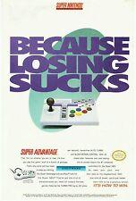 Vtg. 1993 ASCIIWARE Super Nintendo SNES SUPER ADVANTAGE joystick print ad page