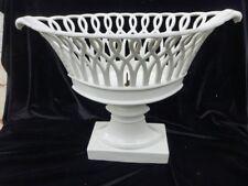Grande corbeille ajourée porcelaine Paris 1er empire XIXe 37 cm
