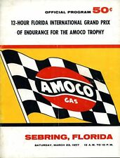 1957 Juan Fangio/Jean Behra Maserati 450S Win Sebring 12 Hr Race Program