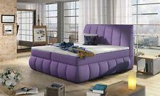 Boxspringbett Schlafzimmerbett PALERMO Mikrofaser Violett 140x200cm