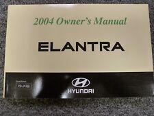 2004 Hyundai Elantra Sedan Hatchback Owner Owner's Manual User Guide GLS GT 2.0L