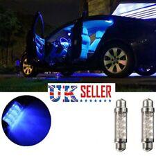 2X 42mm Car 8 LED Interior Festoon Dome Number Plate Bulb Light Blue 12Volt