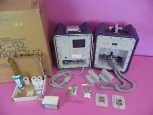 Hewlett Packard ECG/ Defib 4311OMC  Monitor Recorder W/ Manual and Storage/ Case