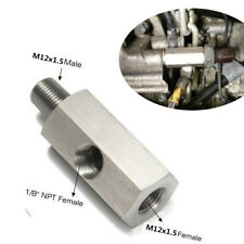 Universal Turbo Adapter Tee Fitting 1/8''NPT to M12x1.5 Oil Feed Pressure Sensor