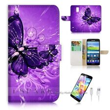 ( For Samsung Galaxy S5 ) Case Cover S8184 Purple Butterfly