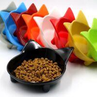 1pc Random Color Cute Cat Bowl Shallow Cat Food Dish Non Slip Cat Feeding Bowl