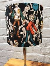 'Zombie High Dirt' 20cm Lampshade in Black Cotton Fabric