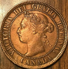 1899 CANADA LARGE CENT PENNY LARGE 1 CENT - Excellent example - Cleaned