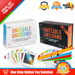 OZ Unstable Unicorns 2ND Edition Strategic Card Base Game NSFW Expansion Pack
