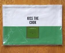 KATE SPADE NEW YORK FOOD FOR THOUGHT KISS THE COOK PICNIC GREEN 4PC PLACEMAT SET