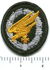 WWII German Paratrooper Jump Badge Iron Cross Bottle Green Wool Patch w/ Border