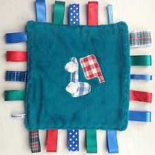 BLANKIE tag COMFORT BLANKET comforter LABELS 30cm *new*   www.baby-bunting.co.uk
