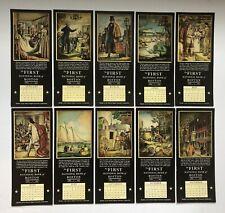 Ten Different 1937 First National Bank Boston Calendar Ink Blotters