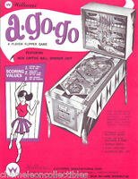 A GO GO By WILLIAMS 1966 ORIGINAL FLIPPER GAME EM PINBALL MACHINE SALES FLYER