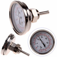 """1/2"""" NPT Steel Thermometer Kitchen Moonshine Still Condenser Brew Pot 30-250°F"""