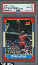 1996 Fleer Basketball '86 Rookie Retro #4 Michael Jordan Bulls HOF PSA 10