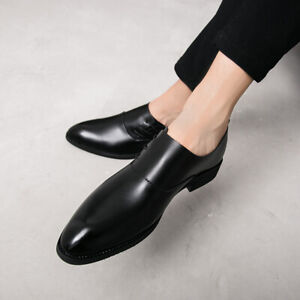 Men Pointy Toe Slip on Work Office Nightclub Dress Formal Business Leather Shoes