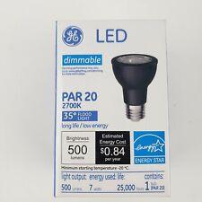 New GE LED Floodlight PAR 20 500 lumens 2700k Dimmable bulb Black LBa