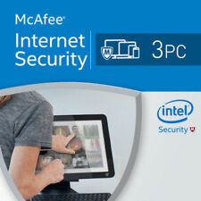 McAfee Internet Security 2018 3 PC 12 Months License Antivirus 2017 3 users US