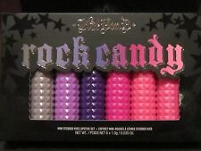 KAT VON D ROCK CANDY LTD STUDDED KISS LIPSTICK SET~VEGAN~6 SHADES COLORED CASES