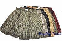 3, 6, 9, 12 Mens Plaid Boxer Shorts 100% Cotton Shaka Lot -S, M, L, XL, 2XL, 3XL