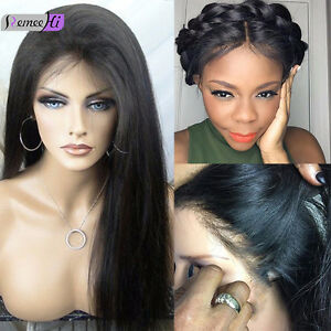 """14"""" Silky Straight full/front lace wigs 100% real remy human hair 5 colors"""
