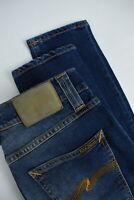 RRP $170 NUDIE LEAN DEAN BAY BLUE Men's W28/L32 Stretch Organic Jeans 3565*mm