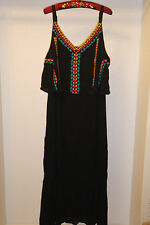 Cute Embroidered Boho Maxi Dress Plus Size 3X, Summer, vacation, cruise, island