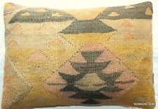 (40*60cm, 16*24cm) Textured handmade pillow cover nomadic weave rustic pastel