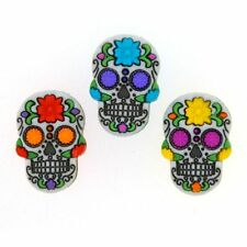 Jesse James Buttons  - Dress It Up ~ SUGAR SKULLS 9069 ~ Day of the Dead Skulls