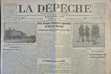 WW1 JOURNAL LA DEPECHE MAI 1916 ATTAQUE ALLEMANDE BOIS DES CORBEAUX ROYE GRECE