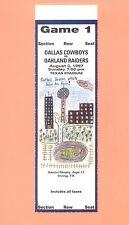 Oakland Raiders at Dallas Cowboys 1997 ticket stub TOPPS NFL HOF Emmitt Smith