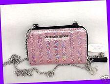 Victoria's Secret Glossy PINK Sequin Crossbody Bag iPhone 5 Case Wallet Purse