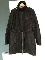 Burberry Quilted Trench Coat M Black