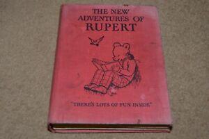 THE NEW ADVENTURES OF RUPERT vintage 1930s children's book Rupert The Bear