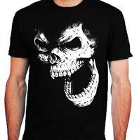 Skull T-Shirt mens S-2XL Biker metal rock goth punk reaper dark tee top horror