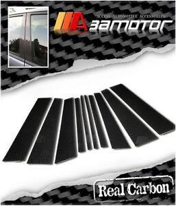 Real Carbon Fibre Door B Pillar Panel Trim Covers 10 PCS fits 99-06 BMW X5 E53